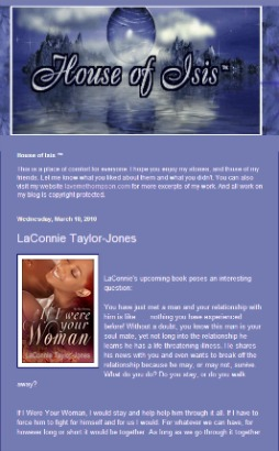 House of Isis, the personal blog of LaVerne Thompson