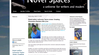 Novel Spaces Guest Author LaConnie Taylor-Jones: Creating Characters Readers Will Love